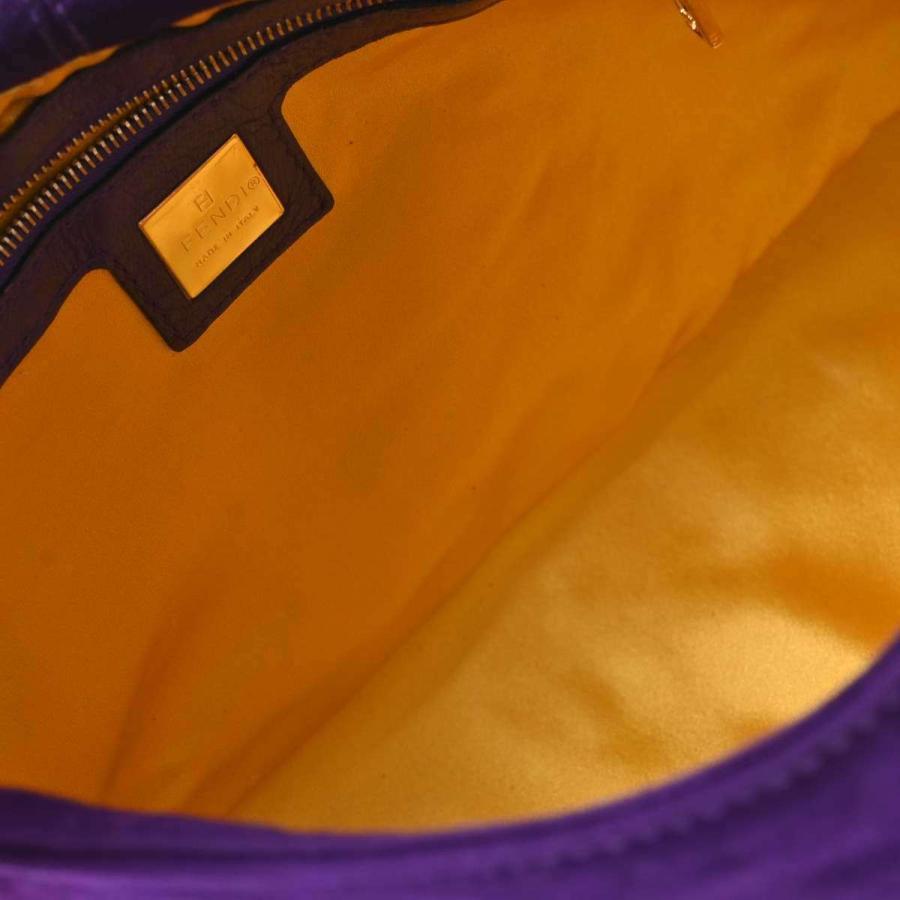 フェンディ FENDI  スウェード マンマバケット ワンショルダーバッグ  ショルダーバッグ パープル  スエード  ブランド  中古 b-rakuichi 03