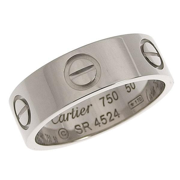 【即出荷】 B楽市本店 本物 CARTIER カルティエ K18WG ラブリング 指輪 #50 10号 5.5g, 西礪波郡 a6a76735