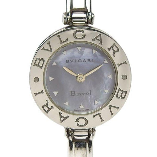 高質で安価 B楽市本店 本物 BVLGARI ブルガリ ビーゼロワン B-ZERO1 バングル レディース クォーツ 腕時計 シェル文字盤 BZ22S, STC Sneaker 43464ed3