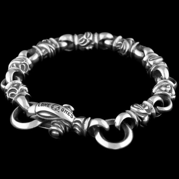 【超特価sale開催!】 LONE ONES(ロンワンズ) ホーク シルバーブレスレット, 高品質ダイヤブランドNoda Jewelry 977550cf