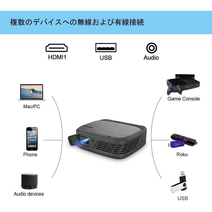 小型 3Dプロジェクター無線高画質DLPプロジェクター映画鑑賞 3300ルーメンWiFiワイヤレスミニホームシネマプロジェクタHDMI 10
