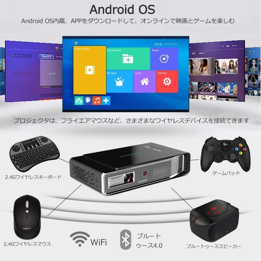 プロジェクター Toumei DLP 3D ホームプロジェクター wifi 1080P対応 HDMI 台形補正 USB/スマホAndroid