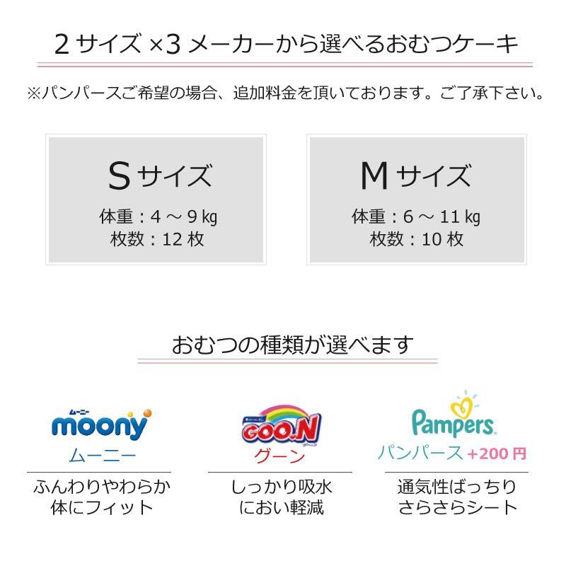 出産祝い おむつケーキ ミキハウス 女の子 プチギフト おしゃれ 可愛い 日本製 イニシャル ・ミキハウス靴下付きおむつケーキ・|baby-arte|10