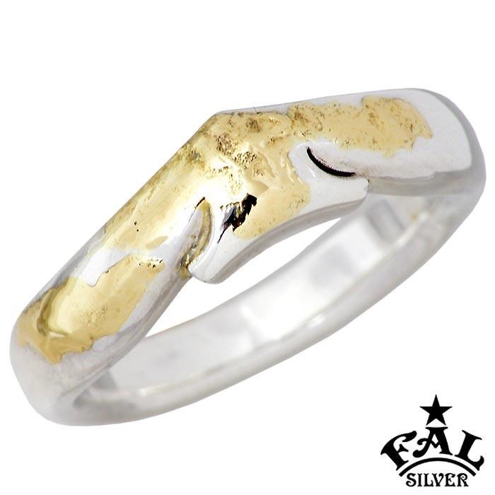 激安通販 F.A.L FAL エフエーエル K18 メルティング シンプリズム スペード シルバー リング 指輪 メンズ 1〜30号, 大豆工房おらが f73ac12e