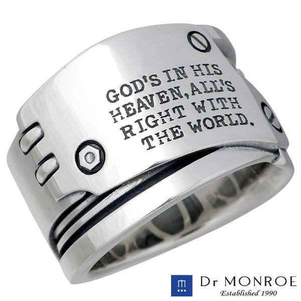 生まれのブランドで Dr MONROE ドクターモンロー シルバー リング メンズ 指輪, 全日本送料無料 c6935ac6