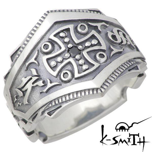 【格安saleスタート】 K-SMITH K-SMITH ケースミス 王冠 リング シルバー リング ブラックキュービック 王冠 クロス 指輪 9〜25号, 【こすたと】:b893bc6c --- airmodconsu.dominiotemporario.com