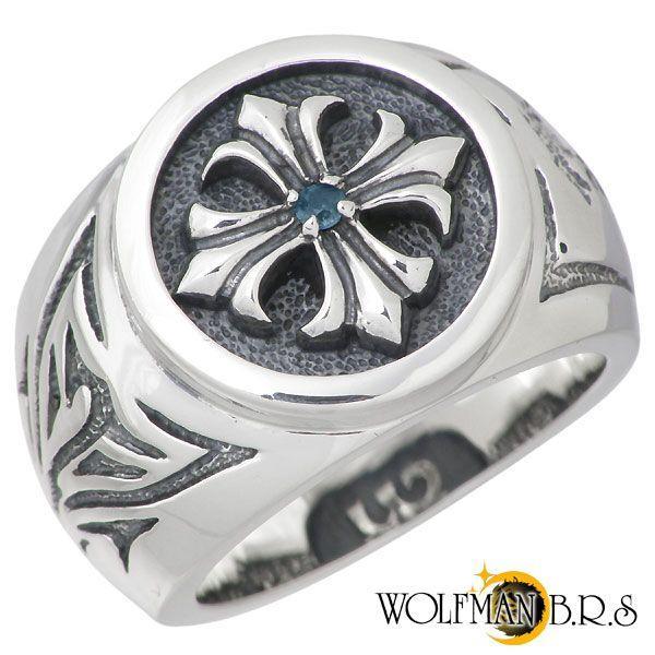 【メール便送料無料対応可】 WOLFMAN B.R.S ウルフマンB.R.S クロス B.R.S シルバー リング リング クロス ブルートパーズ 指輪, Smart Light:abad728a --- airmodconsu.dominiotemporario.com