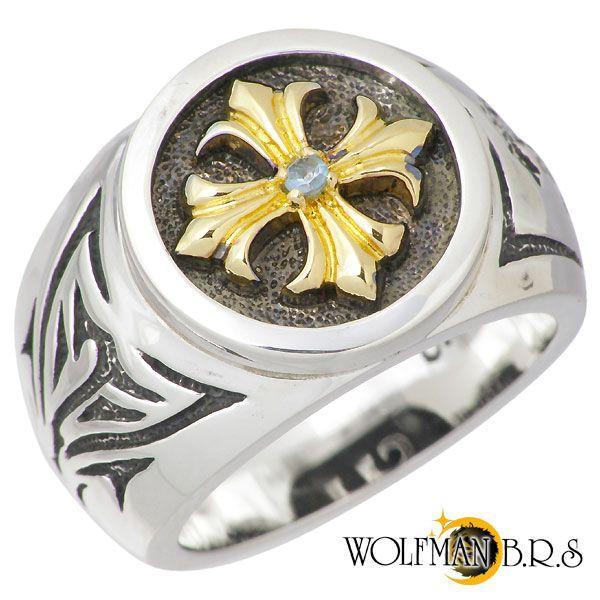 人気新品入荷 WOLFMAN B.R.S ウルフマンB.R.S クロスG シルバー リング B.R.S 指輪 ブルートパーズ クロスG 指輪, CROSS:6a51281e --- airmodconsu.dominiotemporario.com