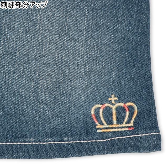 ベビードール BABYDOLL 子供服 スカート デニム 星刺繍 4624K キッズ 女の子|babydoll-y|03
