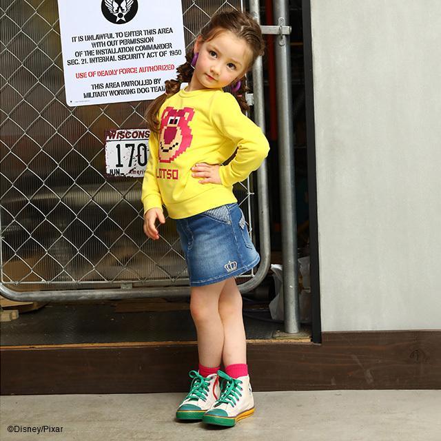 ベビードール BABYDOLL 子供服 スカート デニム 星刺繍 4624K キッズ 女の子|babydoll-y|09