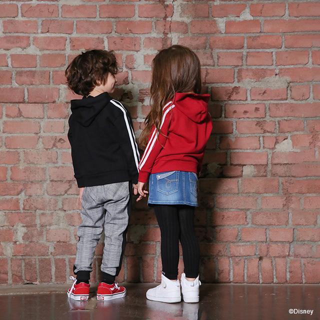 50%OFF SALE ベビードール BABYDOLL 子供服 パーカー ライン ディズニー 親子お揃い 4628K キッズ 男の子 女の子 DISNEY|babydoll-y|10