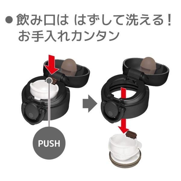 サーモス 水筒 真空断熱ケータイマグ ワンタッチオープンタイプ マットブラック 500ml JNR-501 MTBK|babygoods|04