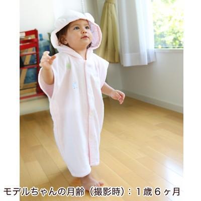 出産祝い 新生児から3歳くらいまで、ながーく使える!『ふわサラ湯上りパーカー』(ベビーバスローブ)(ベビーグース)|babygoose|09
