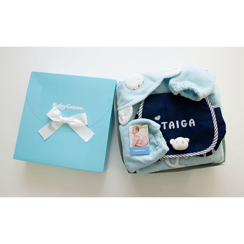 出産祝い 名入れベビー服 ギフト ジャンパー 上着 リュック Namingジャンパーとくまさんリュックのセット(BOX付き)|babygoose|12