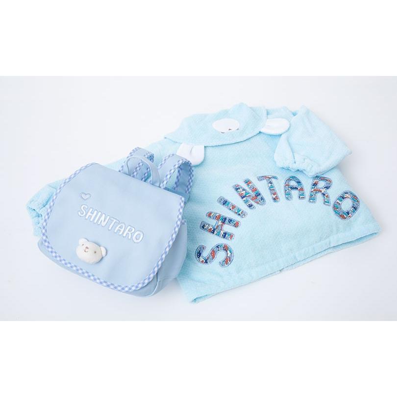 出産祝い 名入れベビー服 ギフト ジャンパー 上着 リュック Namingジャンパーとくまさんリュックのセット(BOX付き)|babygoose|06