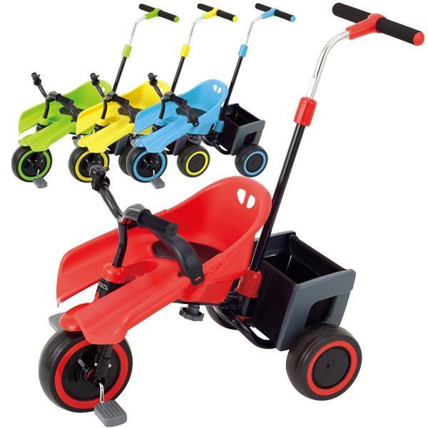 三輪車 エーシート 子供用 キッズ 押手棒付き 野中製作所 ワールド