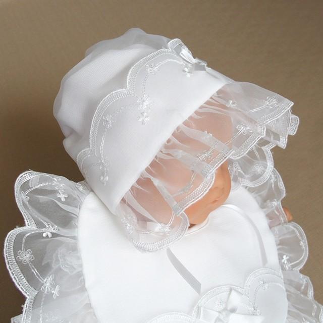 お宮参り用 ベビー用お帽子 よだれかけ お守り 3点セット お食い初め ボンネットフード 赤ちゃん 日本製|babynetshop|02