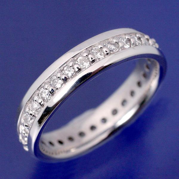 プラチナ pt900 ベビーリング ダイヤモンドフルエタニティ
