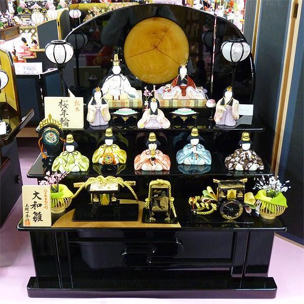 特価 雛人形 一秀作木目込み 桜年輪収納 10人飾り オリジナル 44MKM-4