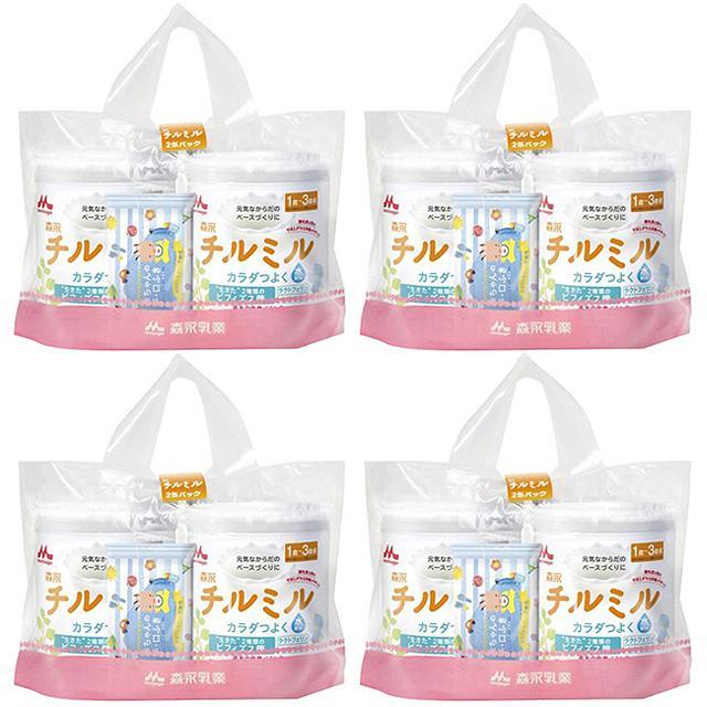 (ケース/箱買い)森永フォローアップミルク 新チルミル 820g×2缶パック×4個 (満1歳頃からの粉ミルク)