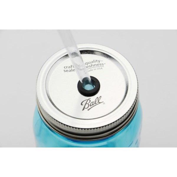 タンブラー メイソンジャー レッドネック ストロー付き 2個セット ドリンクボトル Ball Mason jars REDNEK Sippers Glass グリーン|back|05