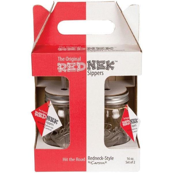 タンブラー メイソンジャー レッドネック ストロー付き 2個セット ドリンクボトル Ball Mason jars REDNEK Sippers Glass グリーン|back|06