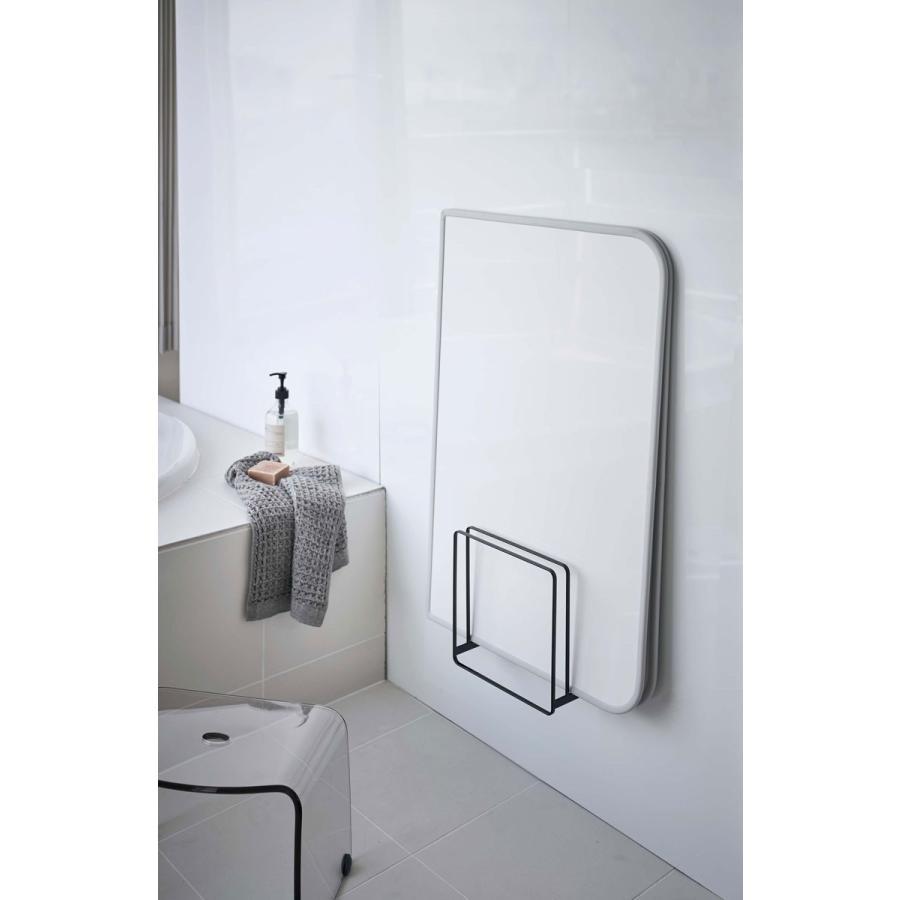 バスラック YAMAZAKI TOWER 乾きやすいマグネット風呂蓋スタンド 浴室用ラック 浴室収納 山崎実業 タワー ブラック|back|02