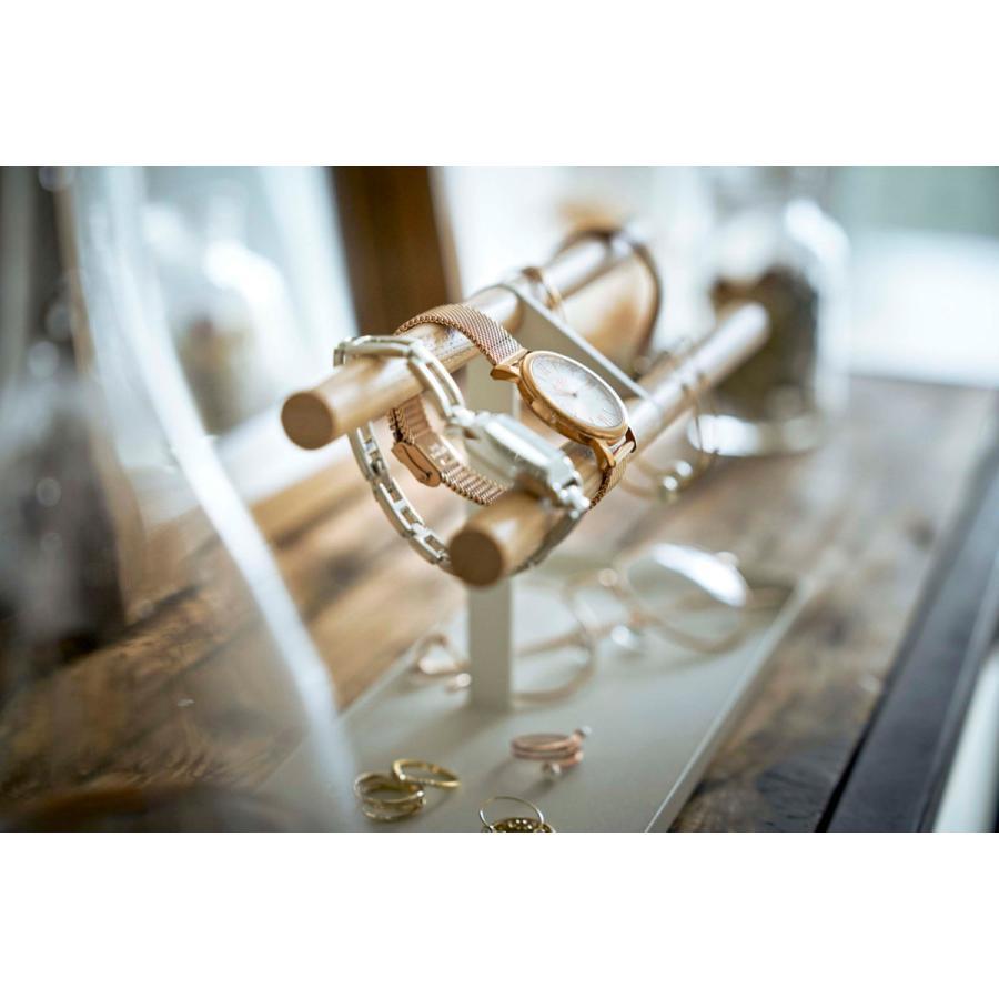 アクセサリートレー YAMAZAKI tosca 腕時計&アクセサリースタンド 腕時計 サングラス 収納ケース 山崎実業 トスカ ホワイト|back|05