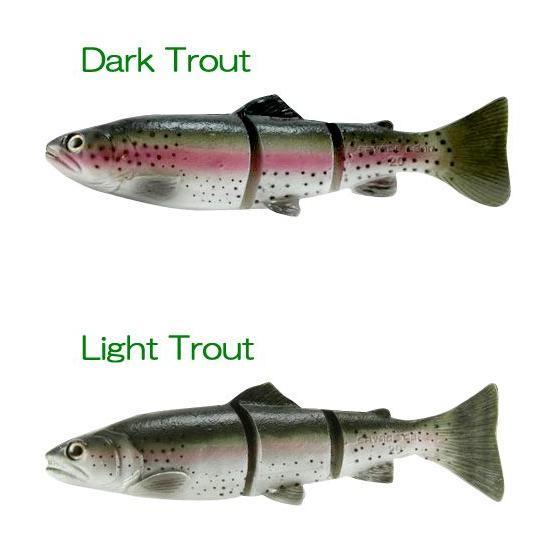 """Savage Gear 3D Line Thru Trout 8/"""" dark Trout Moderate Sink"""