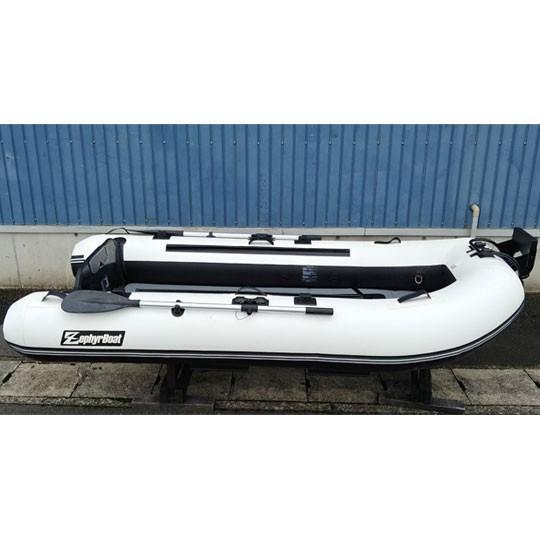 【中古品】 ゼファーボート ゴムボート ZPL-295L-T #ホワイト/ブラック ZephyrBoat 【別途送料3240円かかります】【0000273】