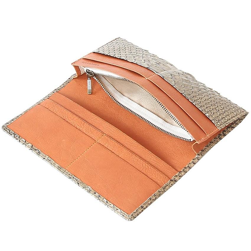 c5f56975273e アンティークパイソン 長財布 かぶせ ヴィア ドアン 日本製 VIA DOAN ...