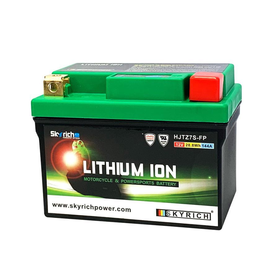 SKYRICH リチウムイオンバッテリー 互換 ユアサ YTX7L-BS FTX7L-BS GTX7L-BS YTZ7V 即使用可能