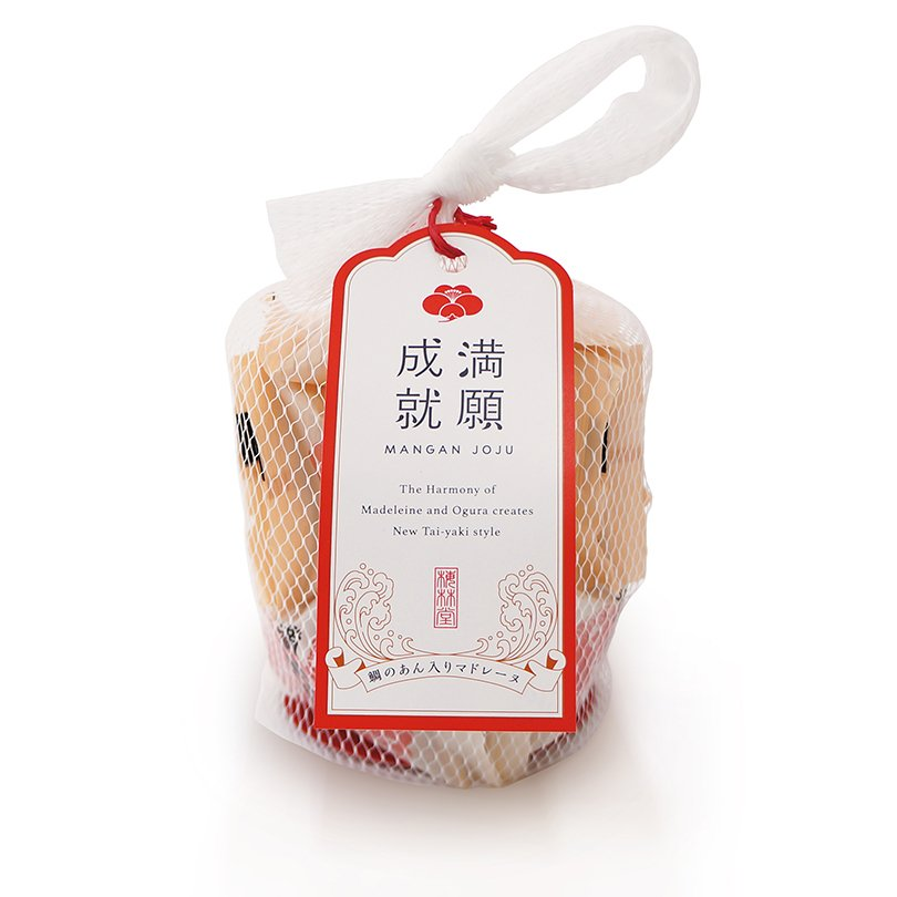 梅林堂 紅白満願成就 (まんがんじょうじゅ) 8匹入(お菓子 和菓子 洋菓子 焼き菓子 スイーツ お取り寄せ 結婚 引き菓子 還暦)|bairindo