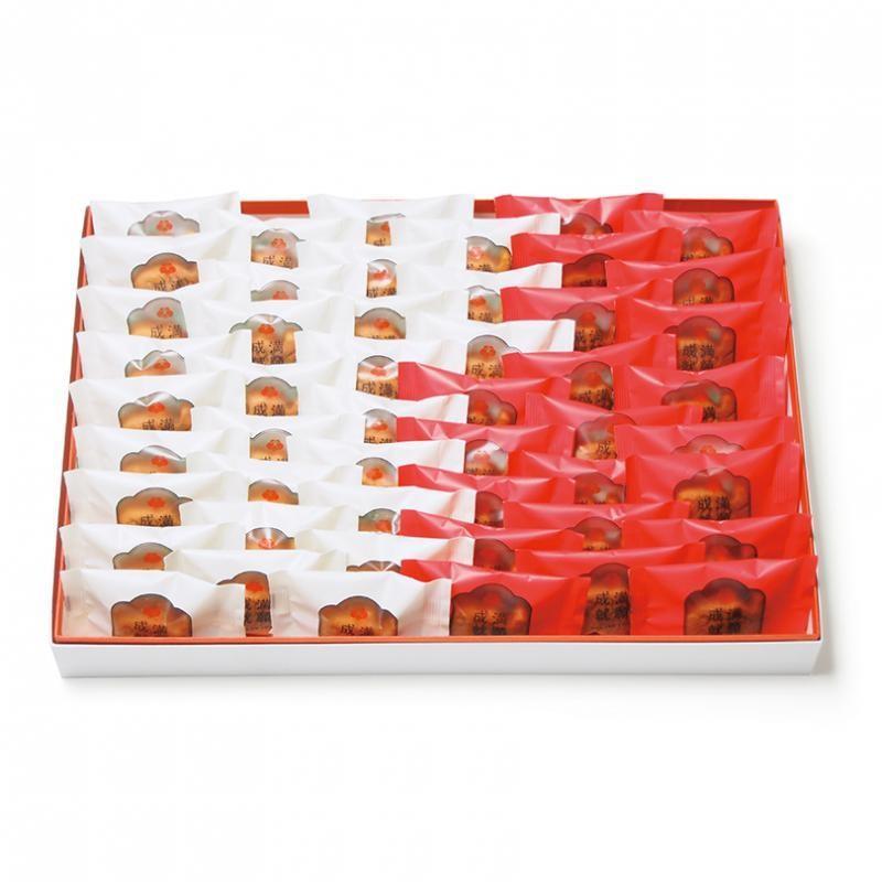梅林堂 紅白満願成就 (まんがんじょうじゅ) 50匹入(お菓子 和菓子 洋菓子 焼き菓子 スイーツ 母の日 父の日 お取り寄せ 結婚 引き菓子 還暦)|bairindo