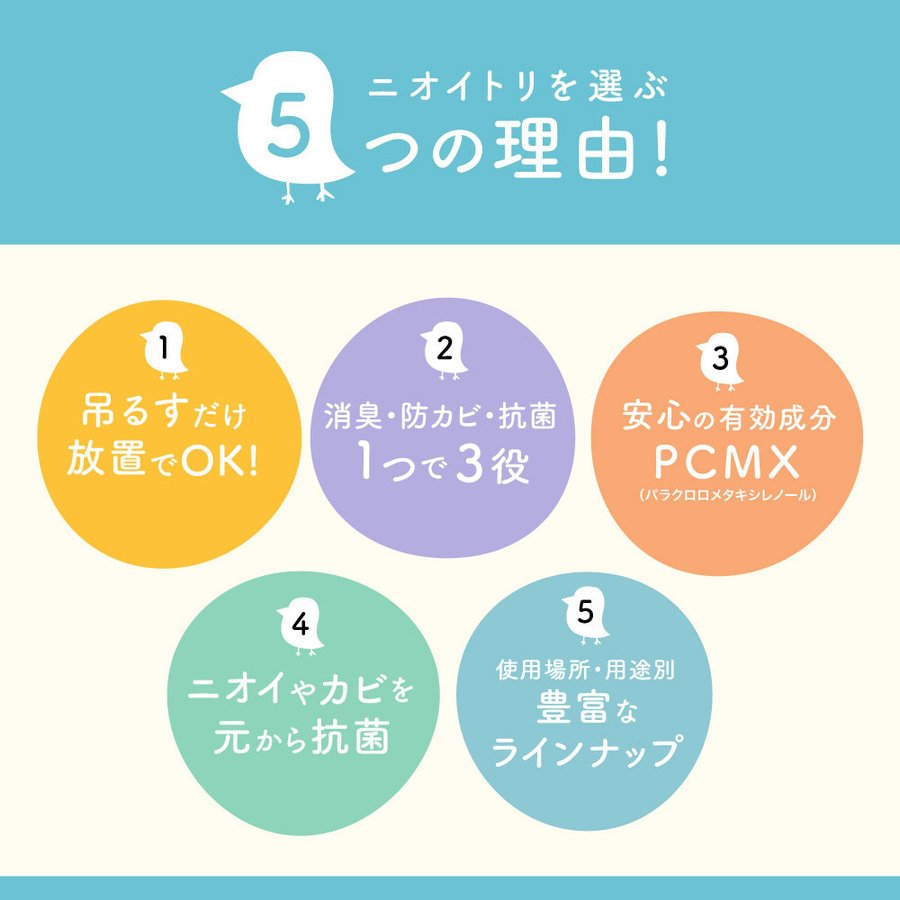 きになるニオイトリ 万能タイプ 日本製 オールマイティ 3枚入 防カビ 防臭 抗菌 シート 匂い取り|bakaure-onlineshop|04