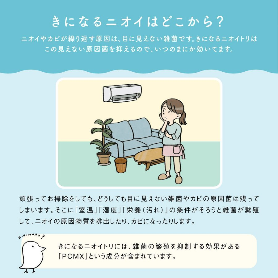 きになるニオイトリ 万能タイプ 日本製 オールマイティ 3枚入 防カビ 防臭 抗菌 シート 匂い取り|bakaure-onlineshop|05