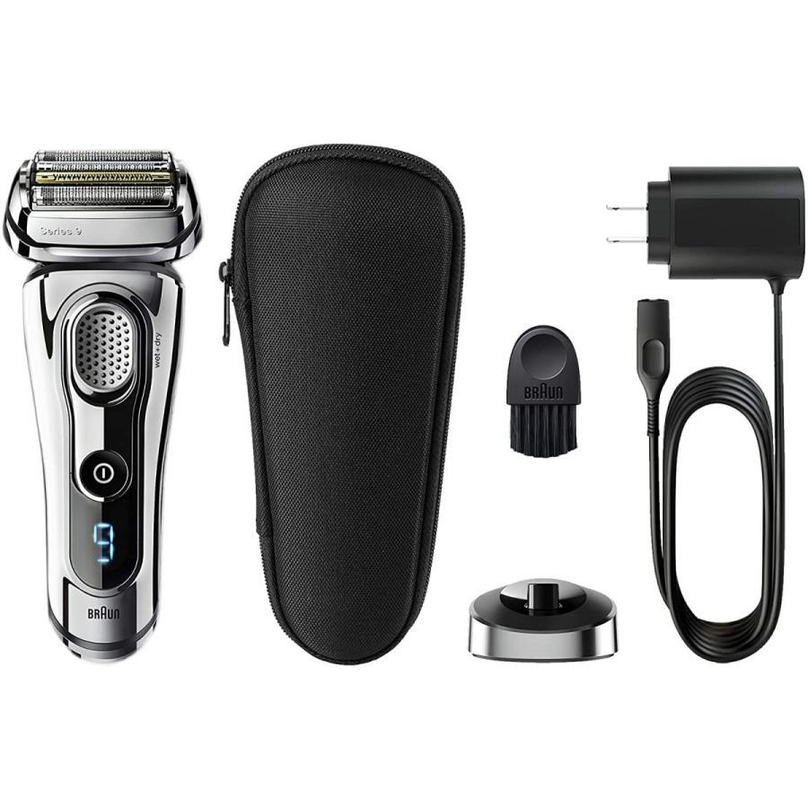 ブラウン メンズ電気シェーバー シリーズ9 9293s 5カットシステム 密着3Dヘッド 人工知能 自動調整 水洗い お風呂剃り可 シルバー|bakuyasuearth|07