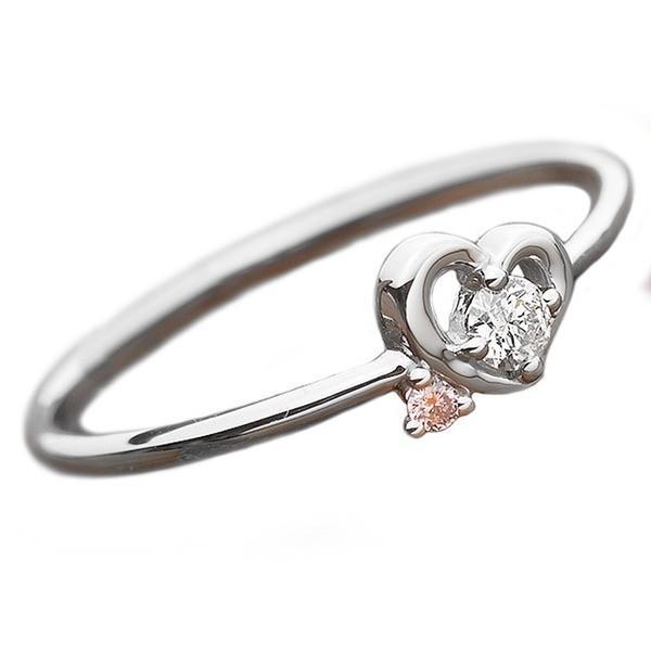 グランドセール ダイヤモンド リング ダイヤ ピンクダイヤ 合計0.06ct 12.5号 プラチナ Pt950 ハートモチーフ 指輪 ダイヤリング 鑑別カード付き, ヒラオチョウ 870db8a0