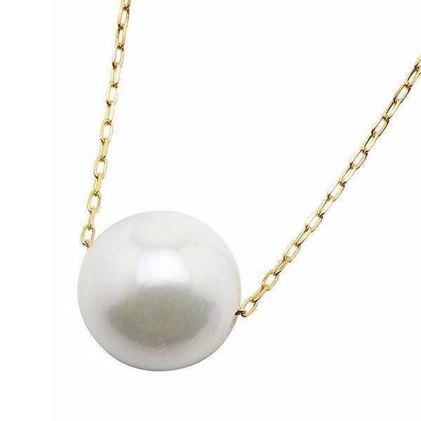 最新入荷 アコヤ真珠 ネックレス パールネックレス K18 イエローゴールド 8mm 8ミリ珠 40cm 長さ調節可能(アジャスター付き) あこや真珠 ペンダント パール 本真珠, やまちゃんふぁーむ a0a80f17