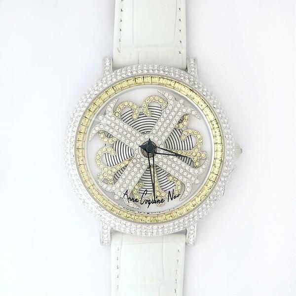 全国宅配無料 アンコキーヌ ネオ 45mm バイカラー ミニクロス シルバーベゼル インナーベゼルイエロー ホワイトベルト イール 正規品(腕時計・グルグル時計), 背が高くなる靴 95aa88ea