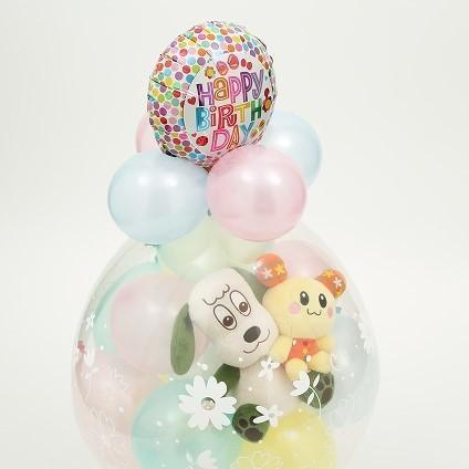 ワンワン&うーたん バルーンラッピング バルーン 誕生日 1歳 2歳 いないいないばあっ グッズ 出産祝い ぬいぐるみ プレゼント 出産祝い 七五三 クリスマス ballballoon 07
