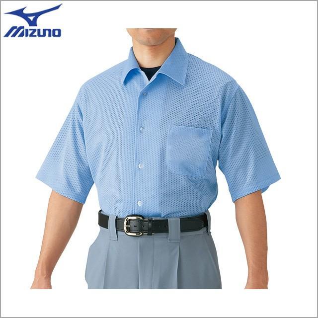 ミズノ 野球 高校野球・ボーイズリーグ 審判員用 半袖シャツ ノーフォーク型 52HU2418