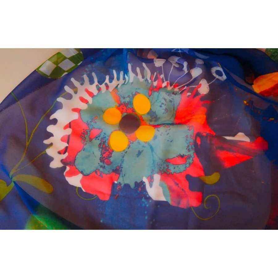 KAYANO USHIYAMA Ballettコラボ第2弾 Happy Hedgehog 大判シフォンスカーフ 正方形 90×90cm ご家庭で洗濯可 日本製|ballett|06