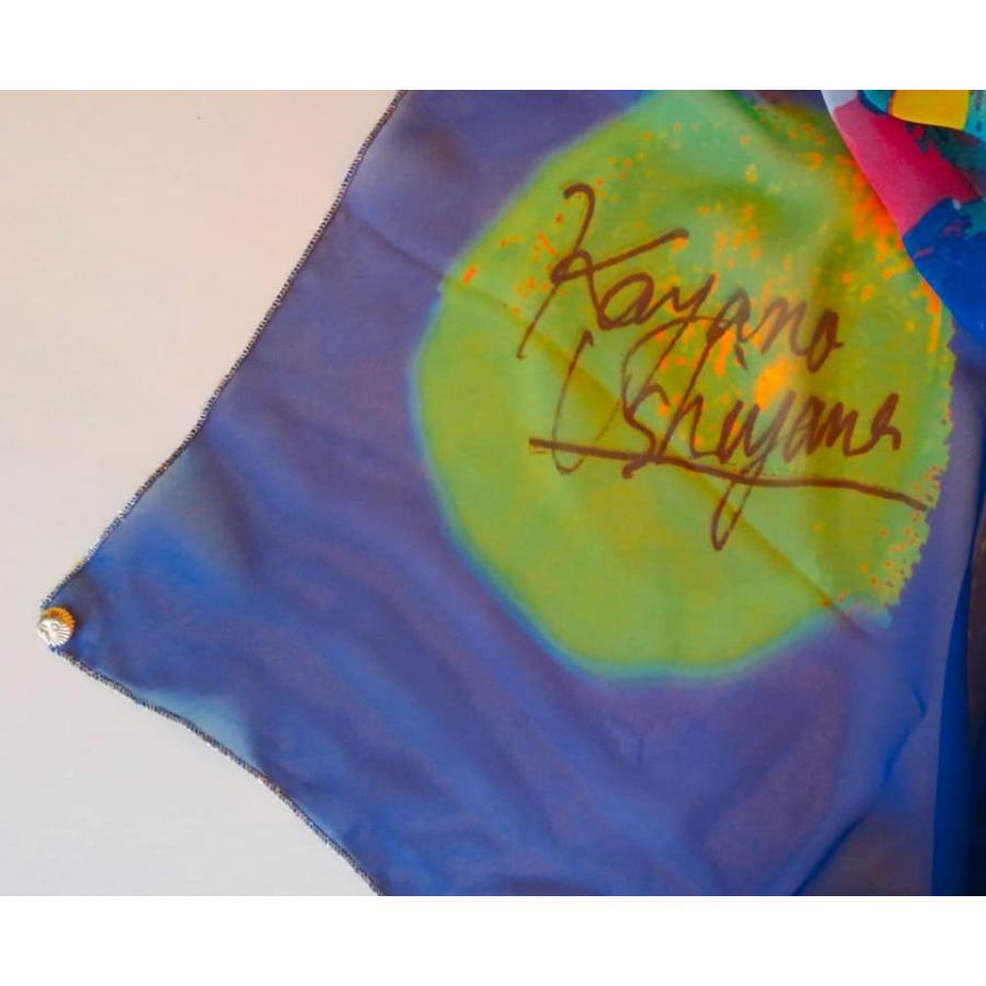 KAYANO USHIYAMA Ballettコラボ第2弾 Happy Hedgehog 大判シフォンスカーフ 正方形 90×90cm ご家庭で洗濯可 日本製|ballett|07