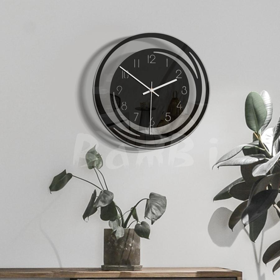 壁掛け 時計 静か 静音 掛け時計 北欧 連続 秒針 見やすい 音がしない おしゃれ 乾電池|bambi2017-y|02