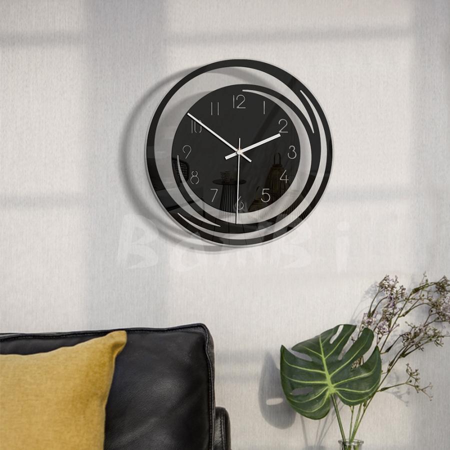 壁掛け 時計 静か 静音 掛け時計 北欧 連続 秒針 見やすい 音がしない おしゃれ 乾電池|bambi2017-y|03