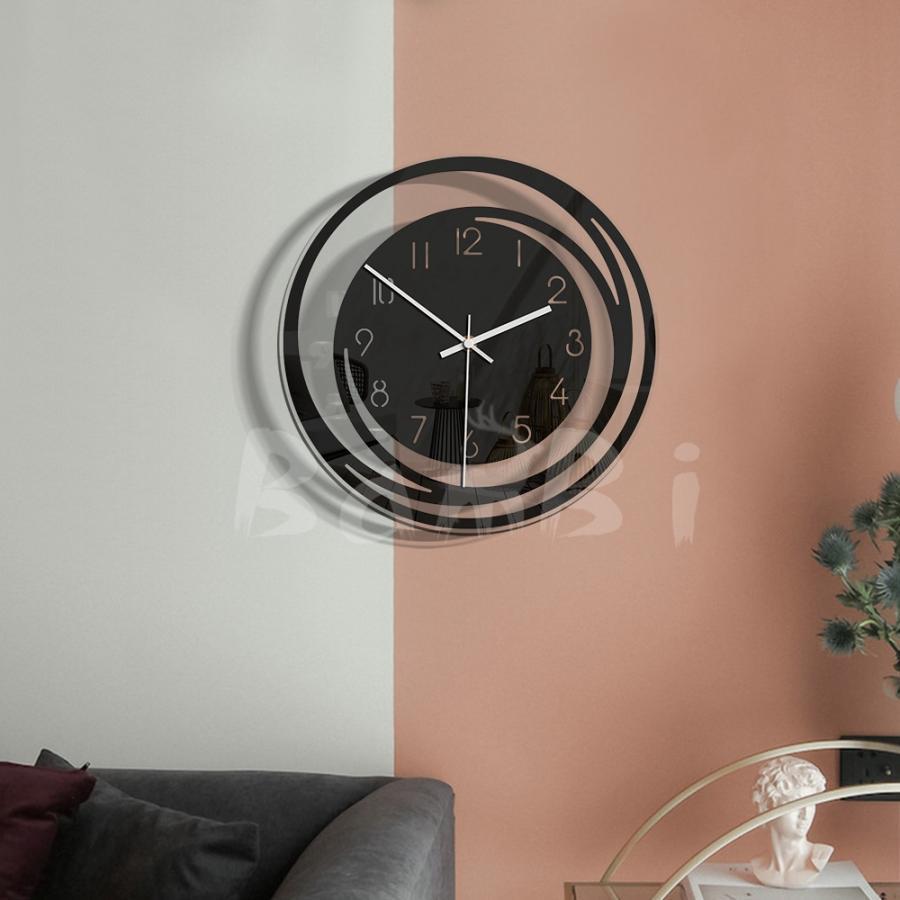 壁掛け 時計 静か 静音 掛け時計 北欧 連続 秒針 見やすい 音がしない おしゃれ 乾電池|bambi2017-y|04