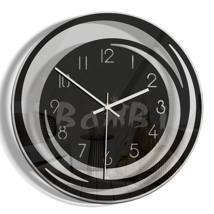 壁掛け 時計 静か 静音 掛け時計 北欧 連続 秒針 見やすい 音がしない おしゃれ 乾電池|bambi2017-y|05
