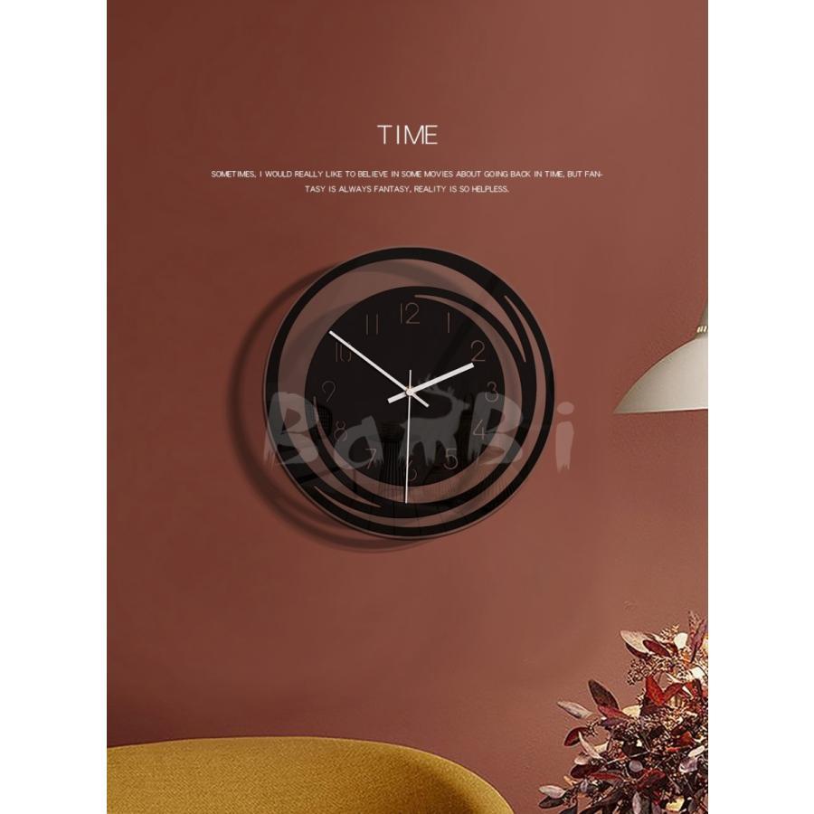 壁掛け 時計 静か 静音 掛け時計 北欧 連続 秒針 見やすい 音がしない おしゃれ 乾電池|bambi2017-y|09