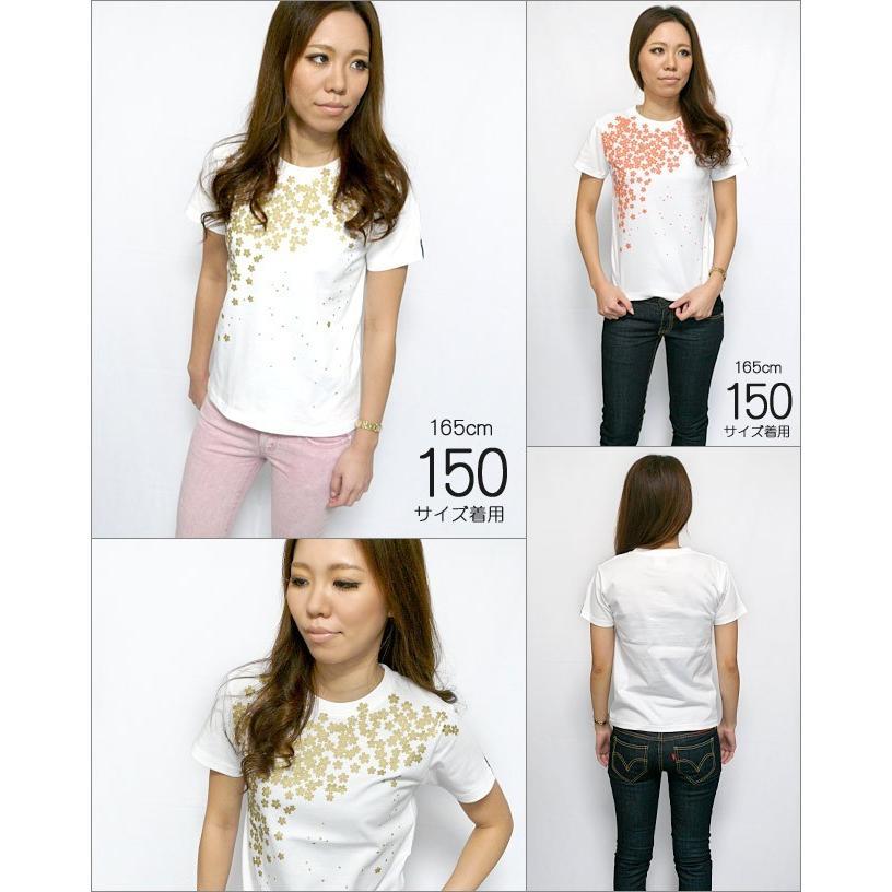 さくら Tシャツ (桜色) -G- サクラ 桜 和柄 花柄 春コーデ きれいめ かわいい ホワイト 白T 半袖 男女兼用|bambi|07